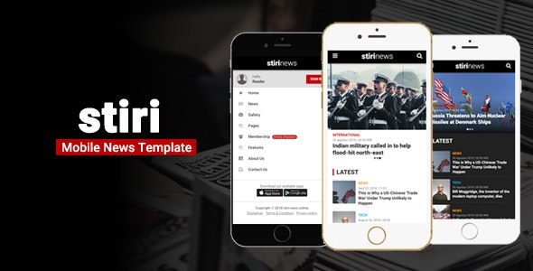 Stiri - Mobile News Template - Mobile Site Templates
