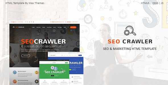 SEO Crawler - Digital Marketing Agency HTML Template - Technology Site Templates