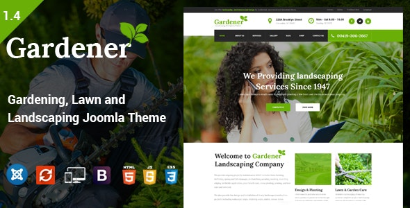 Gardener - Gardening, Lawn and Landscaping Joomla Theme - Business Corporate