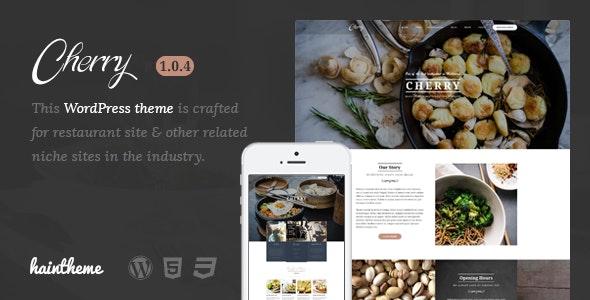 Cherry - Cafe & Restaurant WordPress Theme - Restaurants & Cafes Entertainment