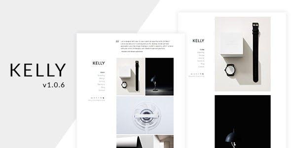Kelly - Minimal Portfolio & Photography WordPress Theme