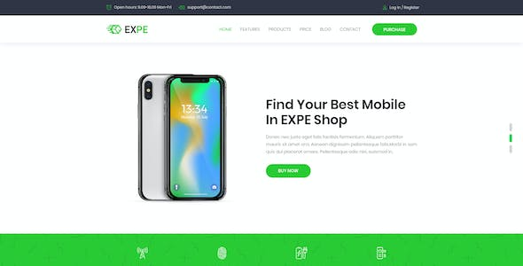 EXPE - Ultimate Single Product Promotion Landing Page