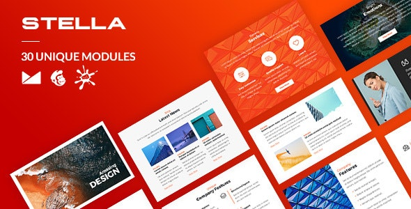 Stella Email-Template + Online Builder - Newsletters Email Templates