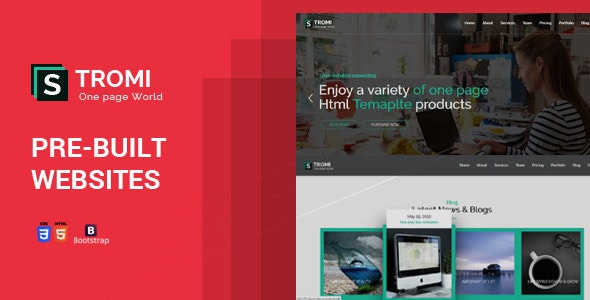 Stromi | One Page HTML5 Template - Creative Site Templates