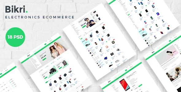 Bikri | Electronics eCommerce PSD Template - Retail Photoshop
