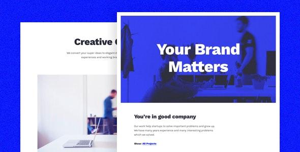 Blunes — Minimal HTML Portfolio Template - Portfolio Creative