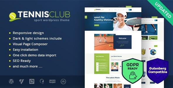 Tennis Club | Sports & Events WordPress Theme