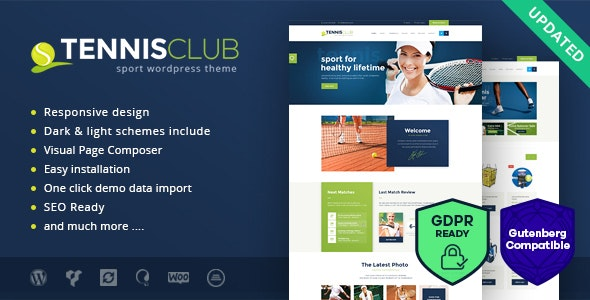 Tennis Club | Sports & Events WordPress Theme - Entertainment WordPress