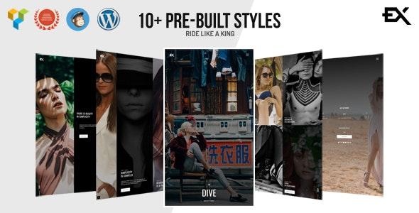 Dive - One Page Portfolio WordPress Theme - Portfolio Creative