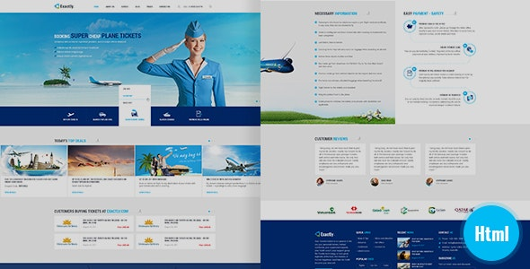 Exactly - Booking Travel Template - Travel Retail
