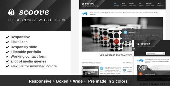 Scoove responsive corporate website theme - Corporate Site Templates