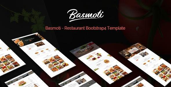 Basmoti - Restaurant HTML Template - Restaurants & Cafes Entertainment