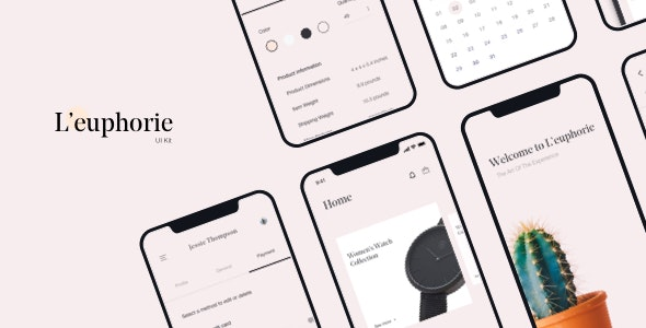 L'euphorie Mobile UI Kit - Creative Sketch