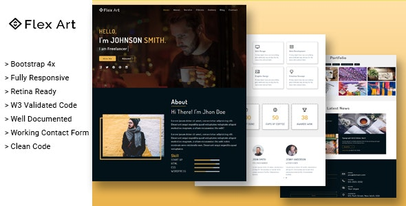FlexArt - Responsive Portfolio Template - Portfolio Creative