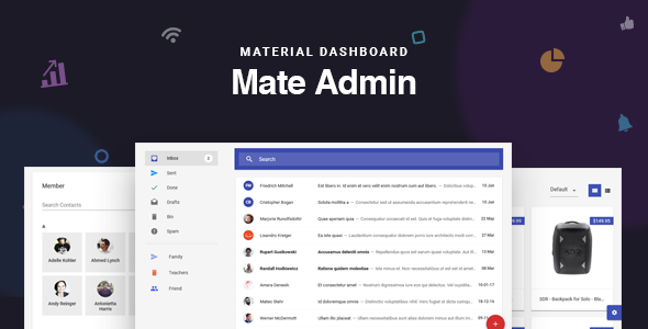 Mate - React Redux Material Admin Dashboard - Admin Templates Site Templates
