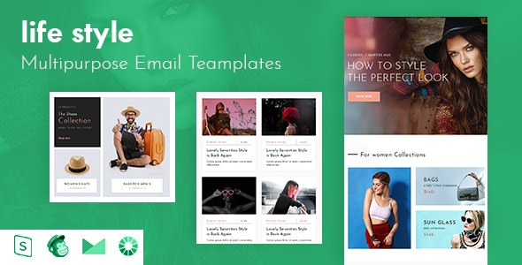 Life Stytle-Responsive Email Template + Online Builder - Email Templates Marketing