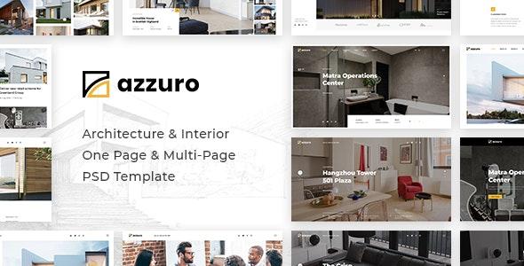 Azzuro   Architecture & Interior PSD Template - Business Corporate