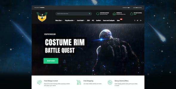 Punibor - Powerful Gaming PSD Template