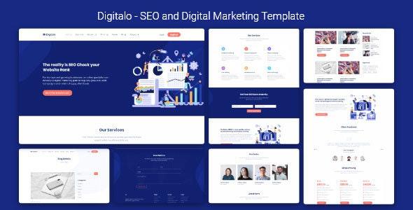 SEO and Digital Marketing Template - Digitalo - Marketing Corporate