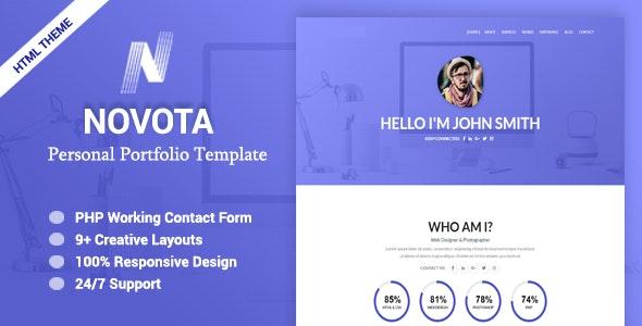 Novota - Personal Portfolio Template - Portfolio Creative
