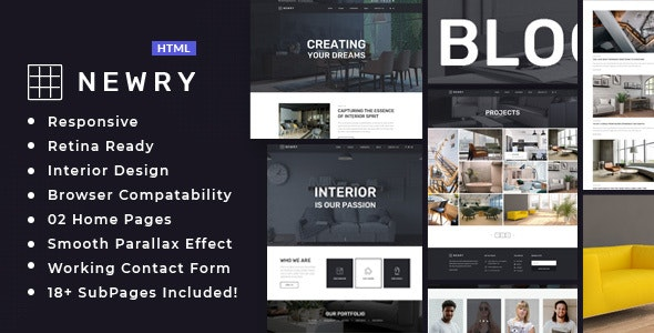 Newry - Architecture & Interior Template - Business Corporate
