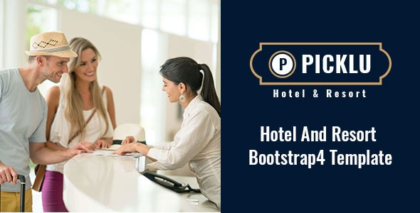 Picklu - Hotel and Resort Bootstrap 4 Template - Travel Retail