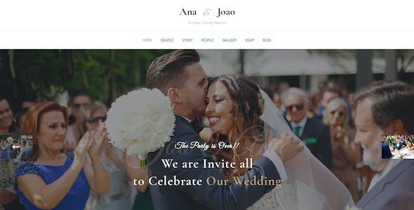Happy Couple - Wedding PSD Template