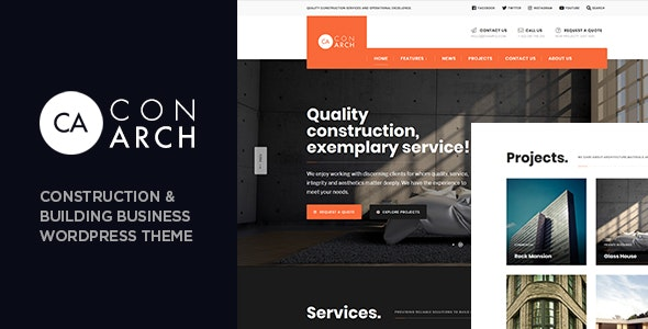 Con Arch - Construction & Building Business WordPress Theme - Business Corporate