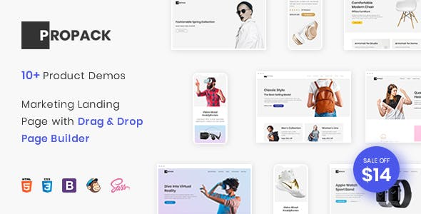 Propack - Marketing Landing Page Pack with Page Builder