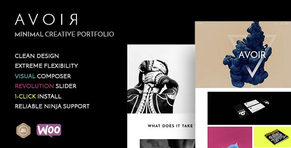 Avoir - Minimal Creative Portfolio WordPress Theme - Portfolio Creative