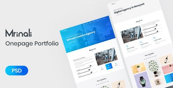 Mrinali | One Page Creative Portfolio PSD Template - Portfolio Creative