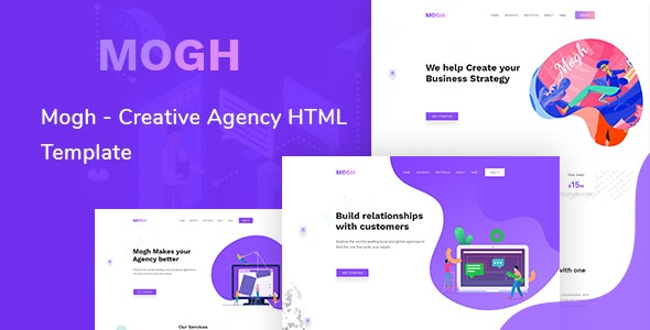 Mogh - Creative Agency HTML Template - Business Corporate