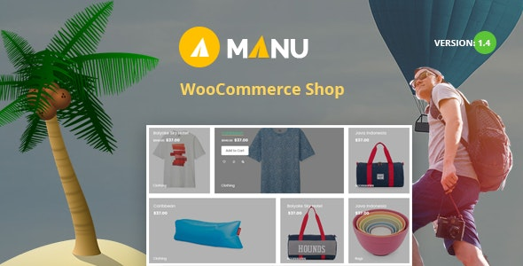 Manu - Travel Store WooCommerce WordPress Theme - Travel Retail