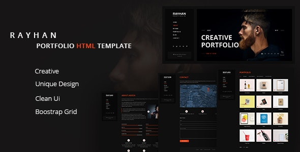 Rayhan - Modern & Creative Portfolio Html Template - Portfolio Creative
