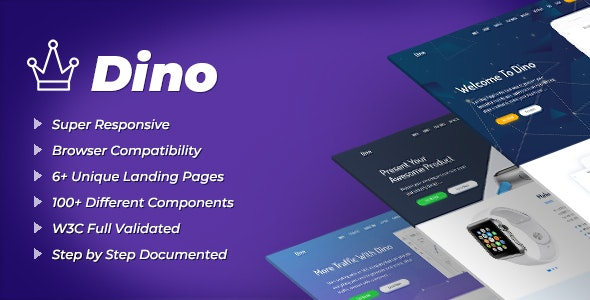 Dino - Landing Pages HTML Template - Technology Site Templates