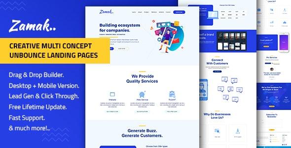 Zamak – Responsive Unbounce Landing Page Template - Unbounce Landing Pages Marketing