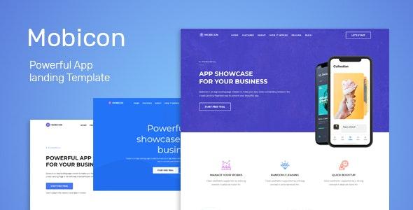 Mobicon - App Landing Template - Technology Site Templates
