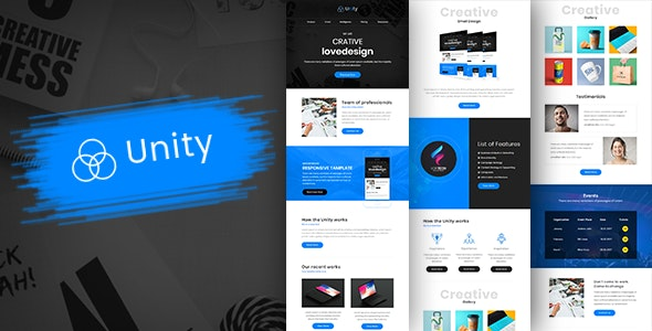 Unity-Multipurpose Responsive Business Email Template + Builder - Newsletters Email Templates