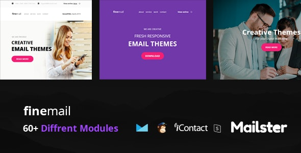 finemail - 60+ Modules + Online Access + Mailster + MailChimp - Email Templates Marketing