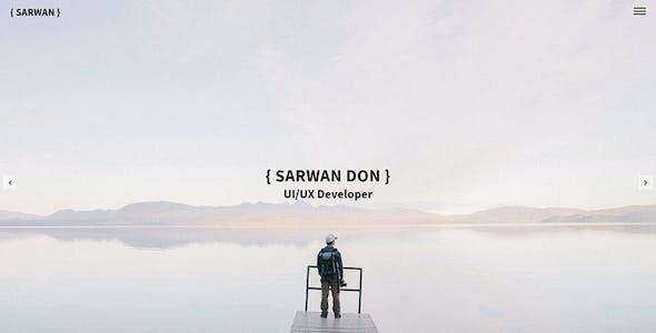 SARWAN - Minimal and Personal HTML Template