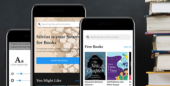 Silvius - Book Store & Library Mobile Template - Mobile Site Templates