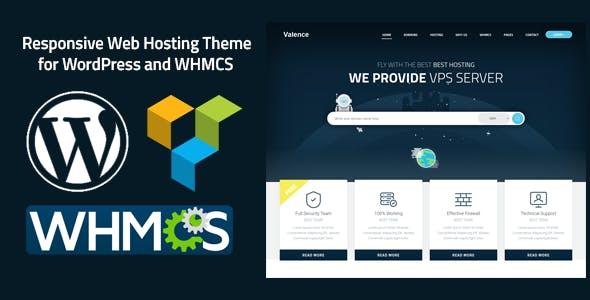 Valence - Website Hosting Company WordPress Theme + WHMCS