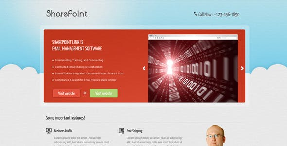 SharePoint– Landing page