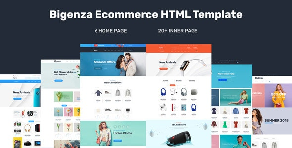 Bigenza - Ecommerce Shopping Cart Business HTML Template - Shopping Retail