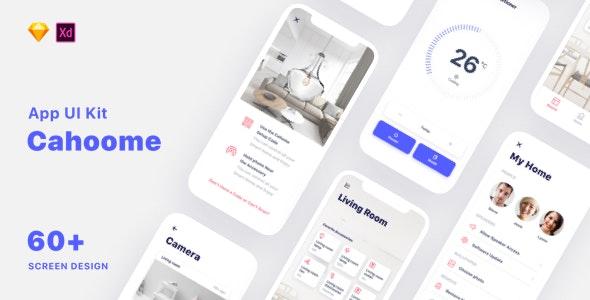 Cahoome - Smart Home UI Kit - Sketch Templates