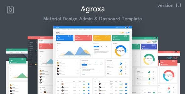 Agroxa - Material Design Admin & Dashboard Template - Admin Templates Site Templates