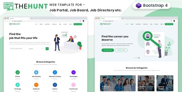 TheHunt - Bootstrap 4 Job Portal Template - Corporate Site Templates
