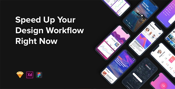 Origin Mobile UI Kit for IphoneX - Sketch Templates