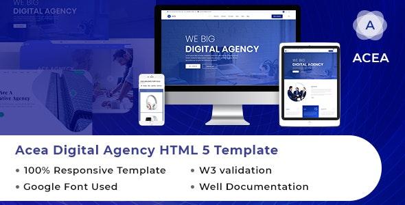ACEA | Best Digital Agency HTML Template - Marketing Corporate
