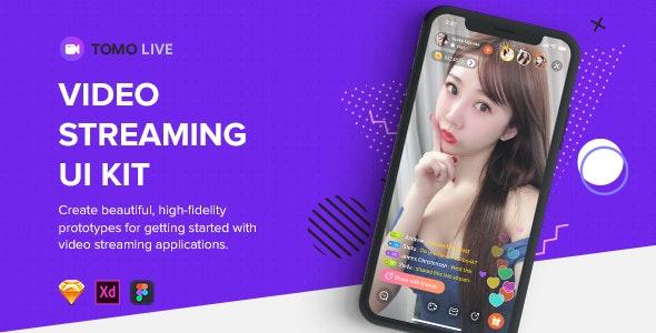 TOMO Video Streaming UI Kit - Business Corporate